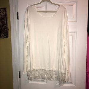 Kim Rogers Curvy White Top with Lace Bottom